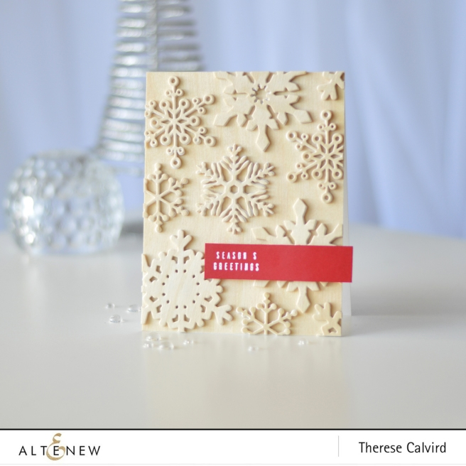 Altenew - Layered Snowflake Die - Festive Poinsettia - Therese Calvird (card video) (2) copy
