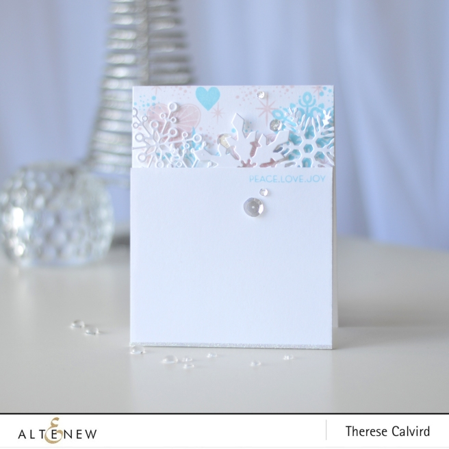 Altenew - Layered Snowflake Die - Peace Love Joy - Therese Calvird (card) 1 copy