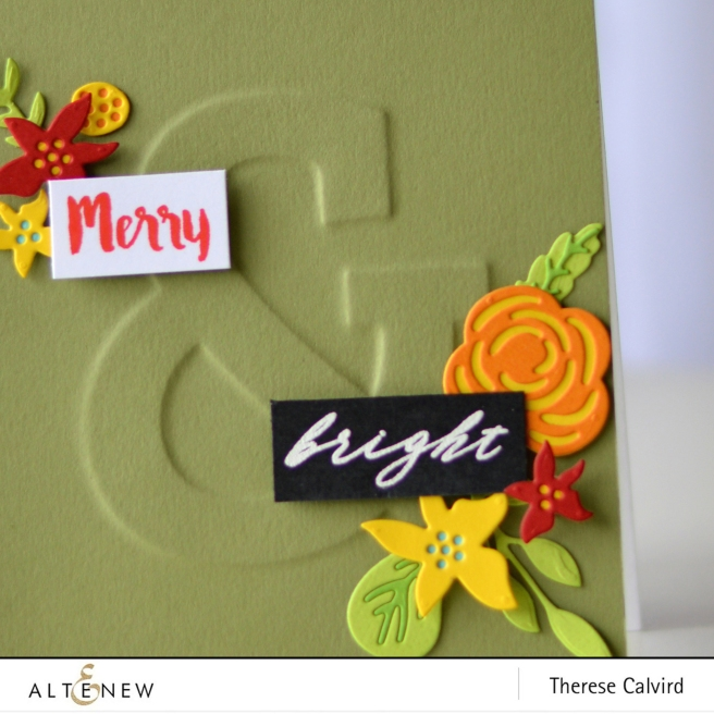 Altenew - Mega Ampersand - Layered Floral Elements Die - Therese Calvird (card video) 1 copy