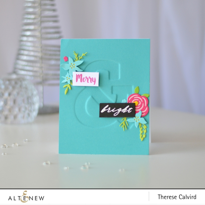 Altenew - Mega Ampersand - Layered Floral Elements - Therese Calvird (card video) 1 copy