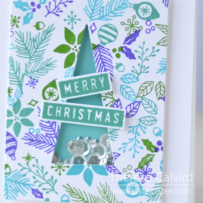 Lostinpaper - Concord & 9th - Deck The Halls - Very Merry Sentiments - Reverse Confetti Triangle Trees (card video) 1
