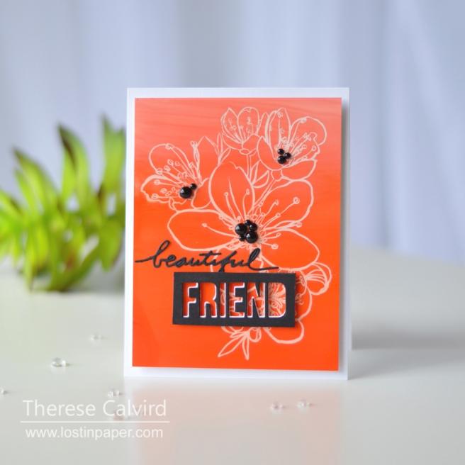 Lostinpaper - Ellen Hutson - Mondo Sakura - Alcohol Lift Ink Technique (card video) 1