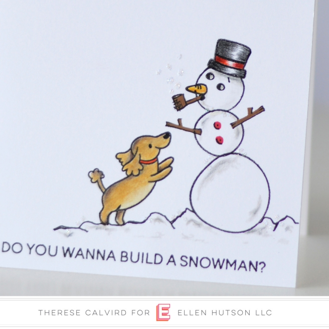 Lostinpaper - Heffy Doodle - Wanna Build a Snowman Yappy Happy Mail (card) 1 copy
