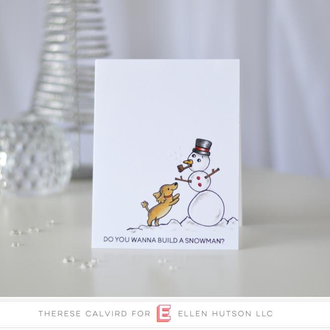 Lostinpaper - Heffy Doodle - Wanna Build a Snowman Yappy Happy Mail (card) 1 copy