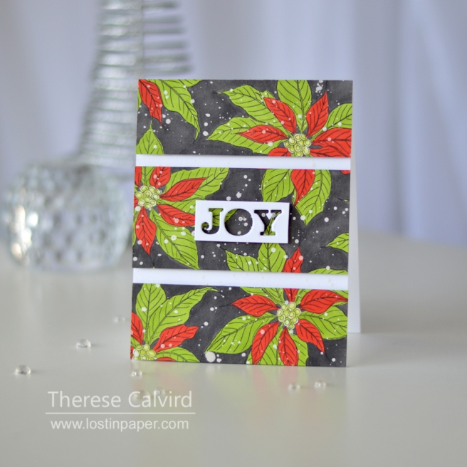 Lostinpaper - Penny Black - Christmas Poinsettia 1
