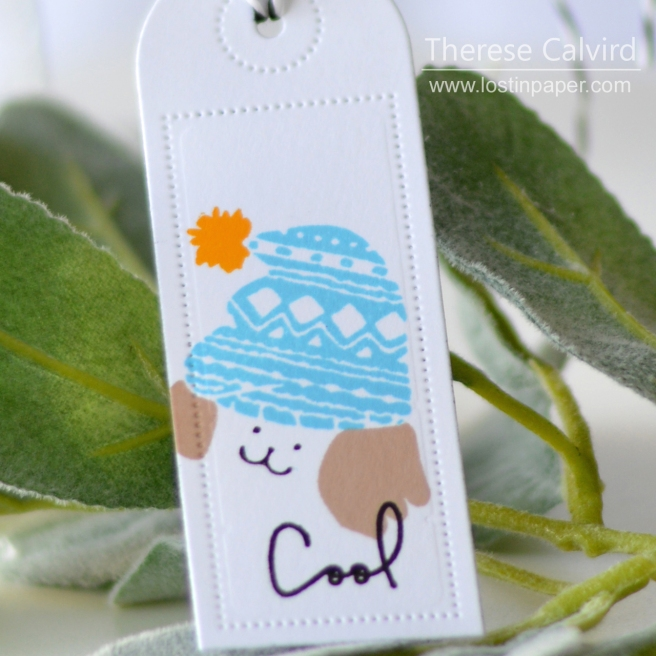 Lostinpaper - Waffle Flower - Cool Dog - Tags (card) 1