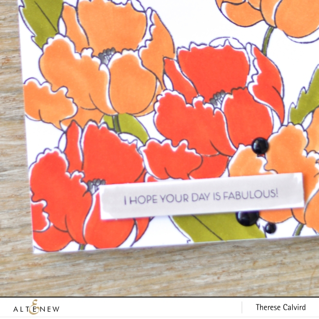 Altenew - Artist Markers E - BAF Poppy - Therese Calvird (card video) 1 copy