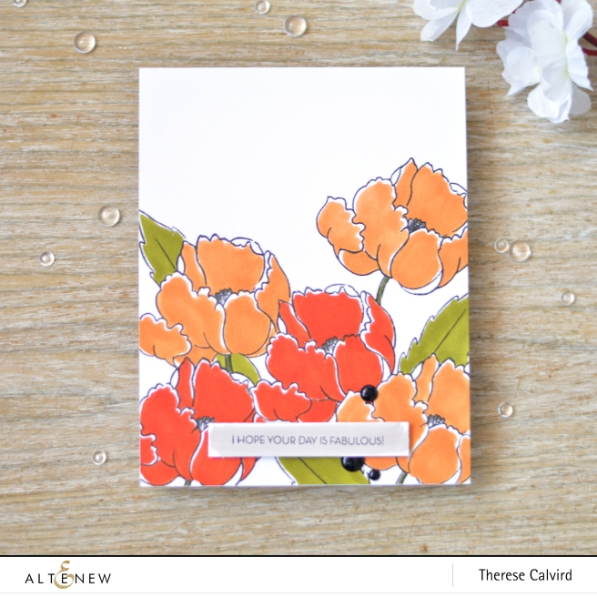 Altenew - Artist Markers E - BAF Poppy - Therese Calvird (card video) 1 copy