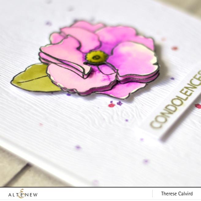 Altenew - Delicate Primrose - Therese Calvird (card video) 1 copy