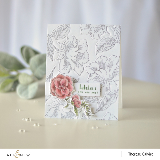 Altenew - Engraved Flowers - Therese Calvird (card video) 1 copy