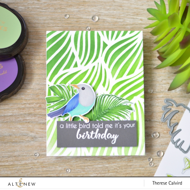 Altenew - Feathered Leaves - Birds of a Feather - Therese Calvird (card) 1