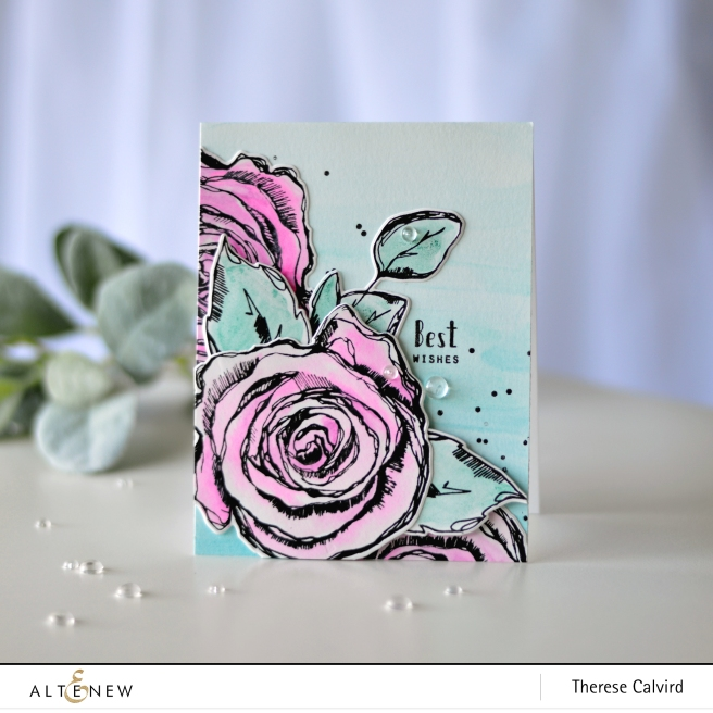 Altenew - Inked Rose - Kind Confetti - Inked Rose - Therese Calvird (card) 1 copy