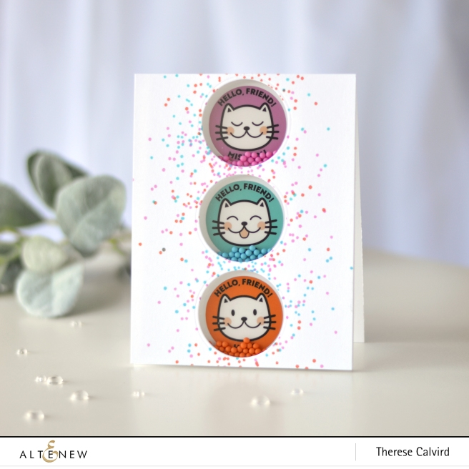 Altenew - Kind Confetti - Friendly Cat Stickers - Therese Calvird (card) 1 copy
