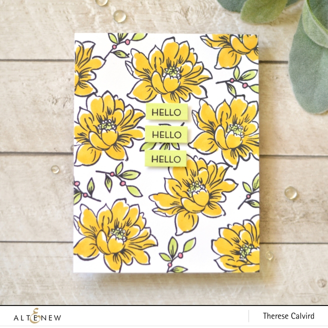 Altenew - Sunlit Flower Card Making Kit - Therese Calvird (card video) 1 copy