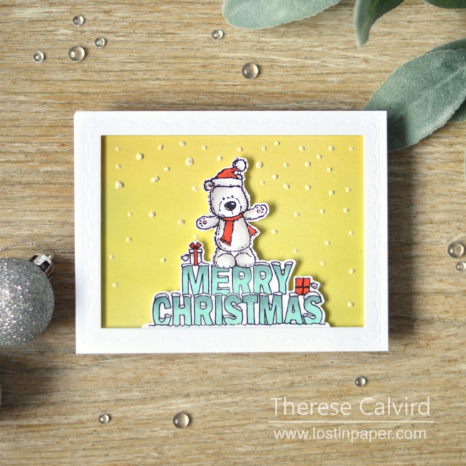 Lostinpaper - Penny Black - Christmas Bear (card video) 1