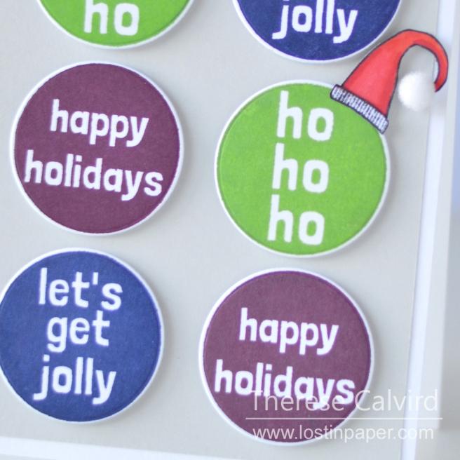 Lostinpaper - Reverse Confetti - Christmas Circles - Holiday Gnomes (card) 1