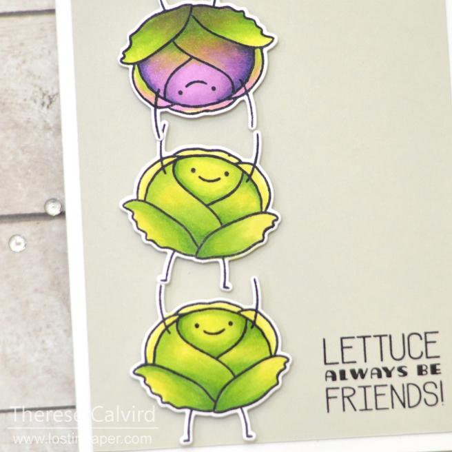 Lostinpaper - Waffle Flower - Lettuce (card) 1