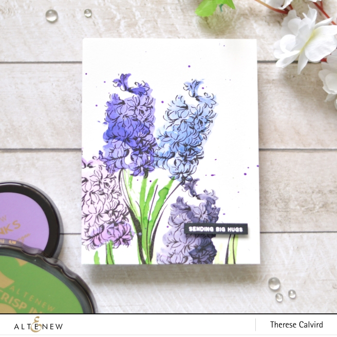 Altenew - BAF - Hyacinth - Flower Vine - Therese Calvird (card video) 1 copy