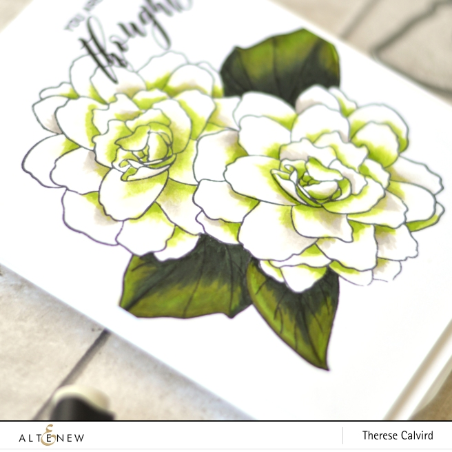 Altenew - Wispy Begonia - Therese Calvird (Take 2 card video) 3 copy