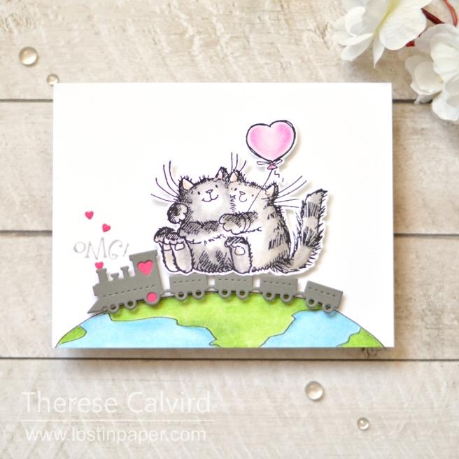 Lostinpaper - Gimme 5 Critter Love (card video) 1