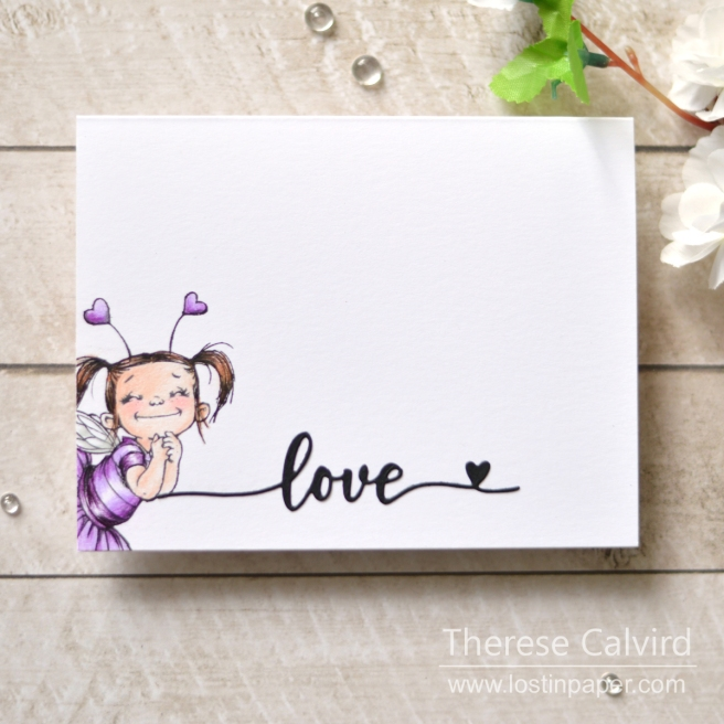 Lostinpaper - Penny Black - Fairy Love - Love & Miss You (card) 1