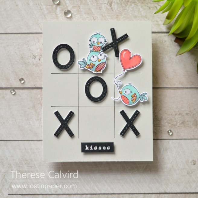 Lostinpaper - Penny Black - Happy Hugs - Stitched xoxo - Lovable (card) 1