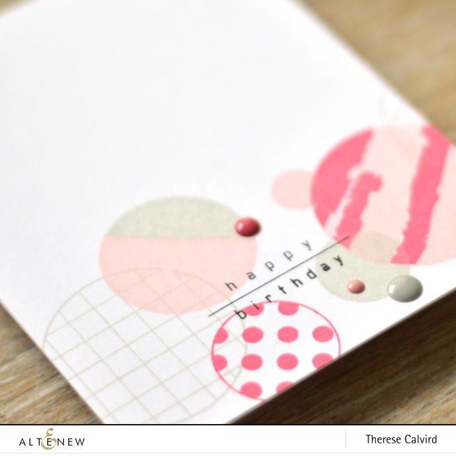 altenew - trendy circles - therese calvird (card) 1 copy