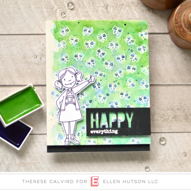 therese calvird - ellen hutson - little lady - totally random sayings vol 1 (card) 1 copy