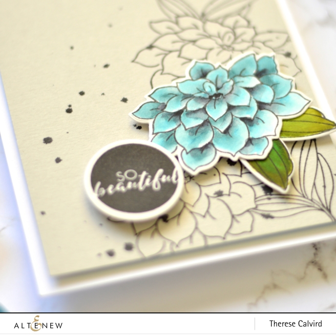 Altenew - BAF Dahlia - Circled Sentiments - Therese Calvird (card video) 1 copy