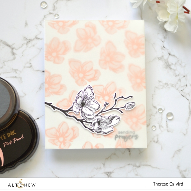 Altenew - Dotted Blooms - Therese Calvird (Take 2 card video) 1 copy
