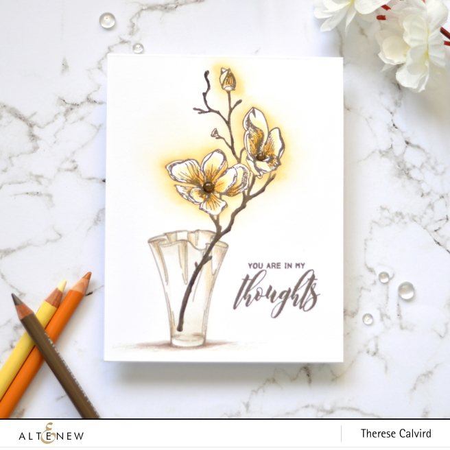 Altenew - Dotted Blooms - Wispy Begonia - Therese Calvird (Take 2 card video) 1 copy