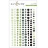 Green Fields Enamel Dots