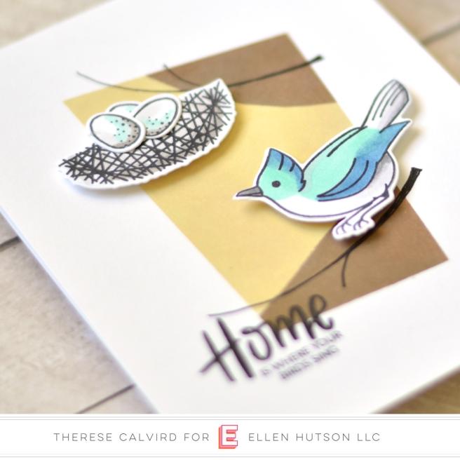 Lostinpaper - Ellen Hutson - Backyard Bird Friends (card) 1 copy