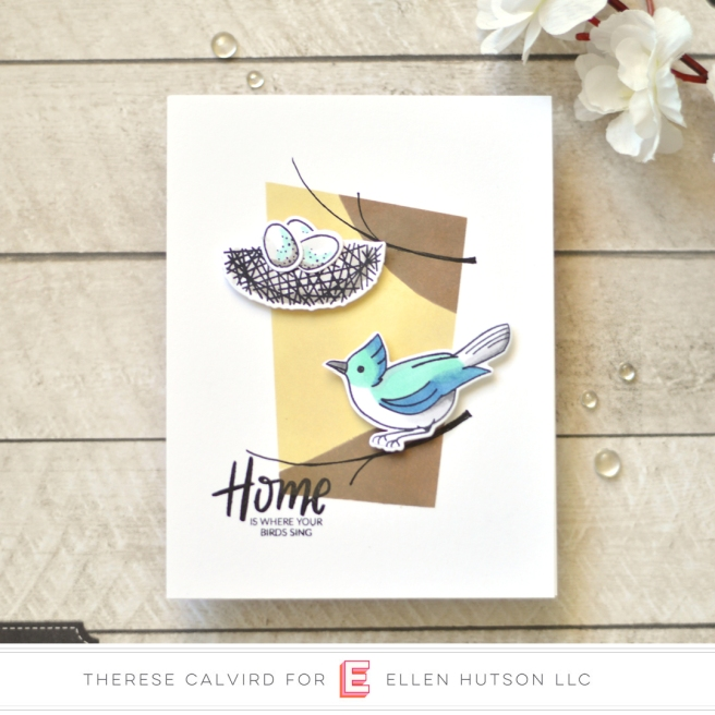 Lostinpaper - Ellen Hutson - Backyard Bird Friends (card) 1 copy