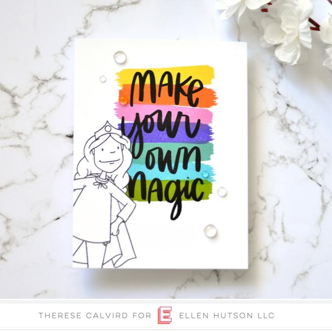 Lostinpaper - Ellen Hutson - Everyday Hero Lady - Crafty Ladies Say (card) 1 copy