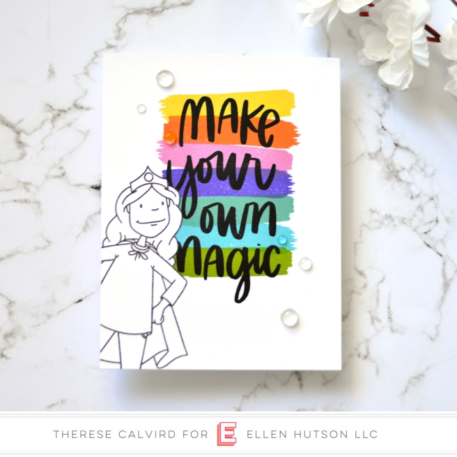 Lostinpaper - Ellen Hutson - Everyday Hero Lady - Crafty Ladies Say (card) 1 copy