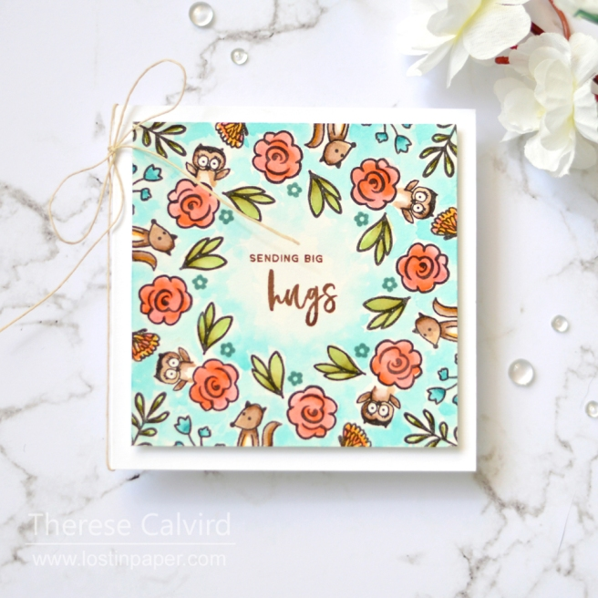 Lostinpaper - Gina K - Wreath Builder - Colour with U (card video) 1