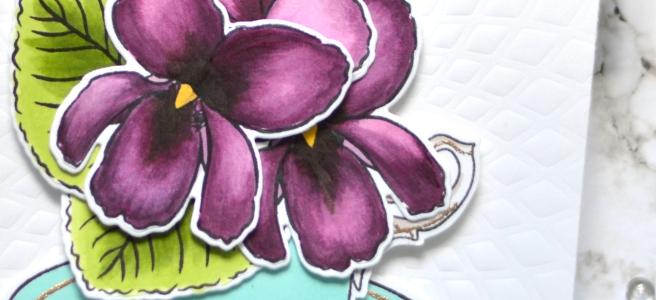Altenew - BAF - Sweet Violet - Vintage Teacup - Therese Calvird (card video) 1 copy