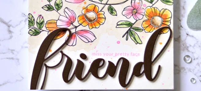 Altenew - Weekend Doodlees - Delicate Flower Bed - Mega Friend Die - Therese Calvird (card video) 1 copy