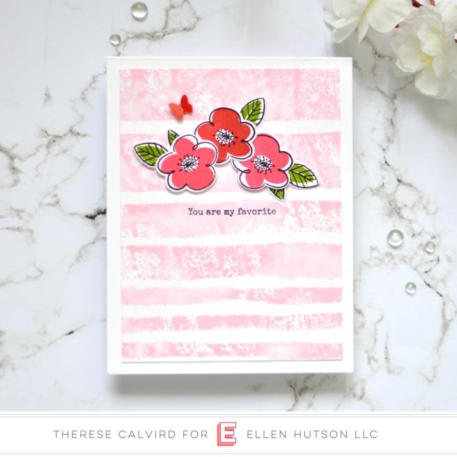 Lostinpaper - Ellen Hutson - Painted Stripes - Everyday Doodles (card) 1 copy