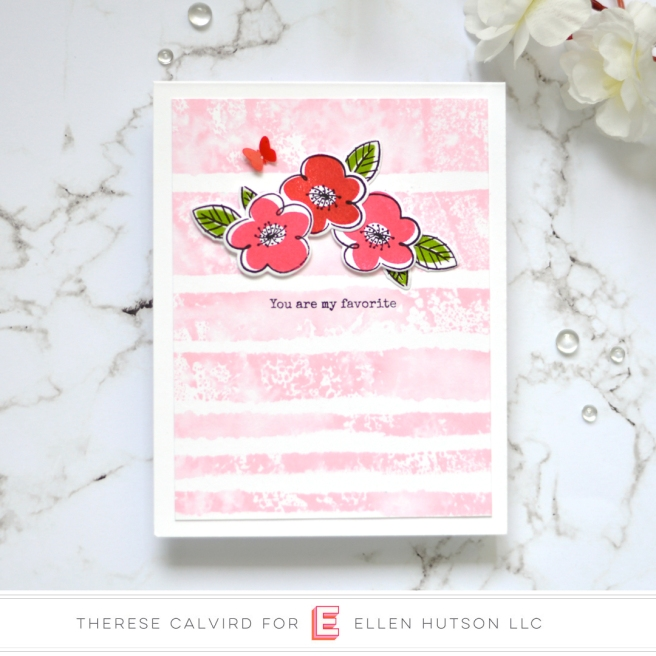 Lostinpaper - Ellen Hutson - Painted Stripes - Everyday Doodles (card) 1 copy