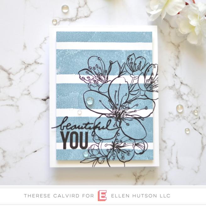 Lostinpaper - Ellen Hutson - Painted Stripes - Mondo Sakura (card video) 1 copy