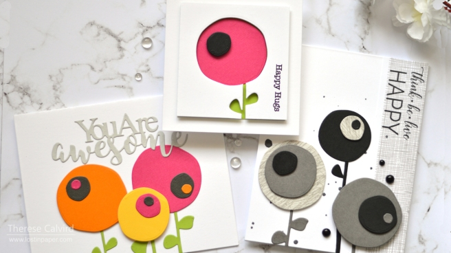 Lostinpaper - Gimme 5 Penny Black - Easy Abstract Flowers (card video) 1