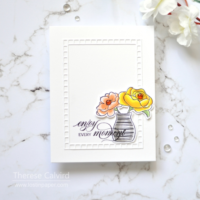 Lostinpaper - Penny Black - From the Garden (card) 1