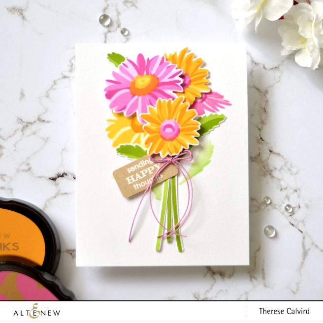 Altenew - Beloved Daisy - Weekend Doodles - Take 2 with Therese (card video) 1 copy
