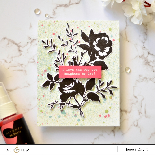 Altenew - Dainty Bouquet - Ink Sprays - Take 2 Wtih Therese (card video) 1 copy