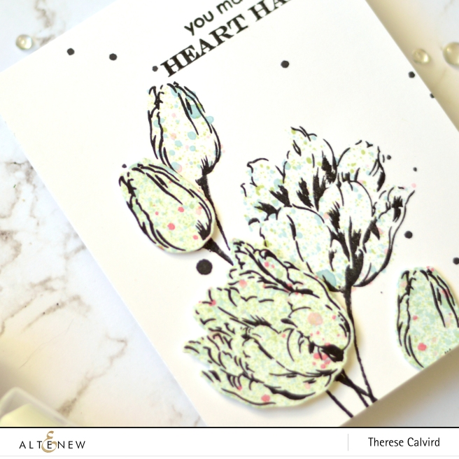 Altenew - Exotic Tulips - Mask Stencil - Ink Sprays - Take 2 With Therese (card video) 1 copy