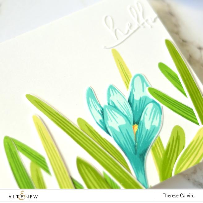 Altenew - BAF Crocus - Therese Calvird (card video) 1 copy