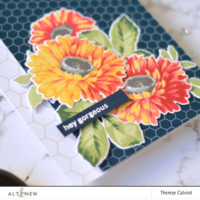 Altenew - Sunflower Daisy - Delicate Flower Bed - Therese Calvird (card video) 1 copy