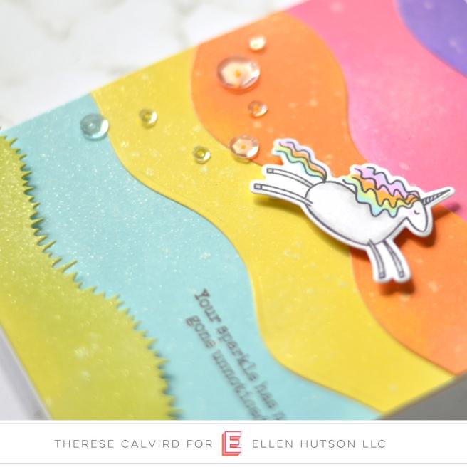 Lostinpaper - Ellen Hutson - Landscapes - Unicorns 'N' Rainbows (card) 1 copy